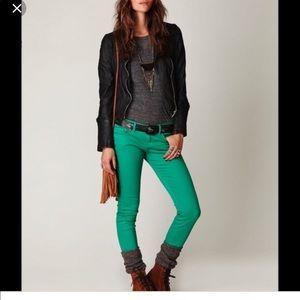 Free people Ankle Zipper Skinny Jeans NWOT